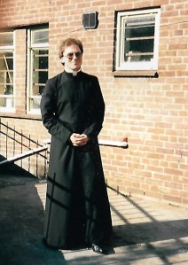 Fr David after the ordination meal